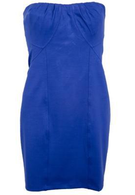 Vestido Triton Justo Recortes Azul