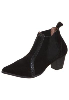 Ankle Boot FiveBlu Elástico Preta