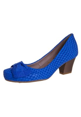 Sapato Scarpin Bottero Laço Salto Baixo Azul