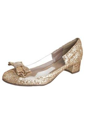 Sapato Scarpin Fiveblu Laço Dourado