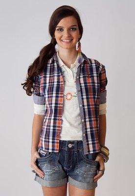Camisa Coca Cola Clothing Slim  Retro Xadrez