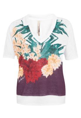Blusa Small Flowers Branca - Coca Cola Clothing