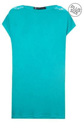 Blusa Anna Flynn Renda Azul