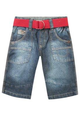 Bermuda Jeans Cute Azul - Mania Kids