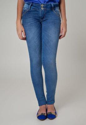 Calça Jeans Sawary Jegging Deskco Azul