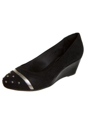 Sapato Scarpin FiveBlu Cravos Preto