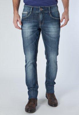 Calça Jeans Reta Ideal Azul - Osmoze