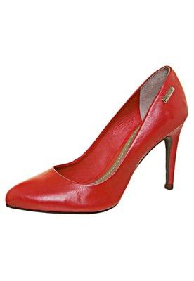 Sapato Scarpin Salto Alto Bico Fino Vermelho - Dumond