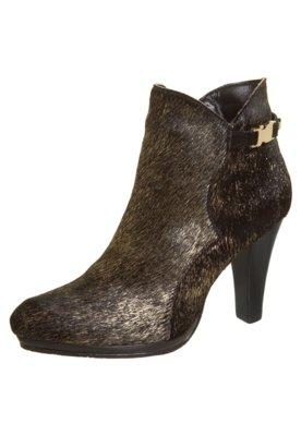 Ankle Boot FiveBlu Pelos Dourada/Preta