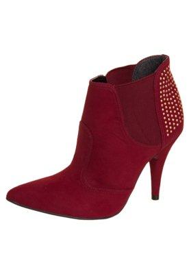 Ankle Boot Elástico Hotfix Vermelha - Crysalis