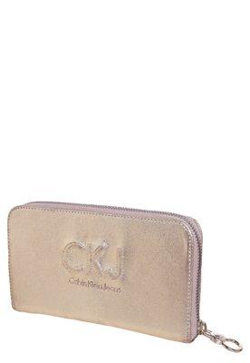 Carteira Calvin Klein Pespontos Dourado