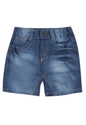 Bermuda Jeans Pockets Azul - Meu 1º Jeans