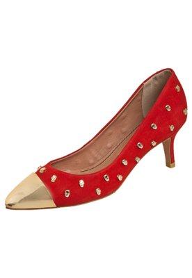 Sapato Scarpin Santa Lolla Cap Toe Caveirinhas Vermelho