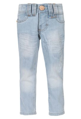 Calça Jeans Mania Kids Skinny Destroyed Azul