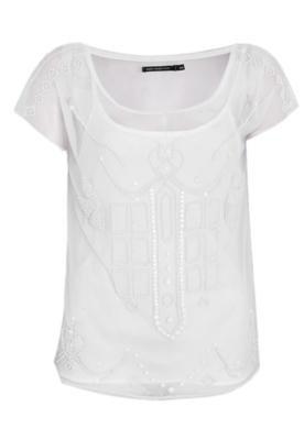 Blusa Ellus Embroidery Off-white