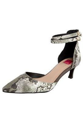 Sapato Scarpin Pink Connection Estampa Marrom