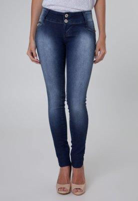 Calça Jeans Sawary Skinny Stone Azul