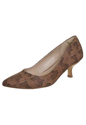 Sapato Scarpin Anna Flynn Réptil Marrom