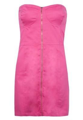 Vestido Pink Connection Pespontos Rosa