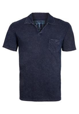 Camisa Polo Rockstter Bolso Azul