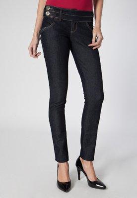 Calça Jeans Skinny Very Pespontos Azul - Lança Perfume