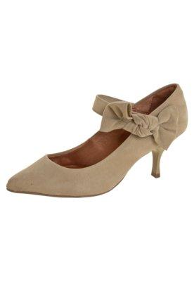 Sapato Scarpin Di Cristalli Bico Fino Salto Baixo Mary Jane ...