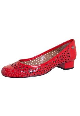 Sapato Scarpin Corso Como Bloco Flores Vazadas Vermelho