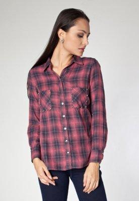 Camisa Shop 126 Rebites Xadrez