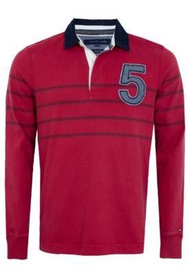 Camisa Polo Tommy Hilfiger Richard STP Rugby Vermelha