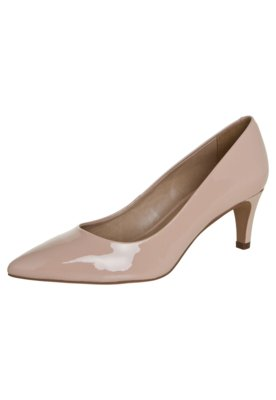 Sapato Scarpin Datelli Gáspea Lisa de Verniz Nude