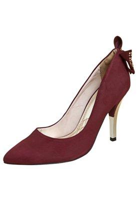 Sapato Scarpin Via Marte Laço Traseiro Vinho