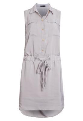 Vestido Anna Flynn Laço Cinza