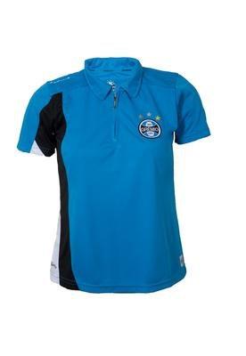 Camisa Polo Dry Grêmio III Feminina Azul - Licenciados Fute...