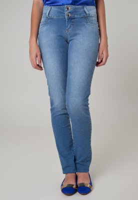 Calça Jeans Sawary Skinny Curva Azul