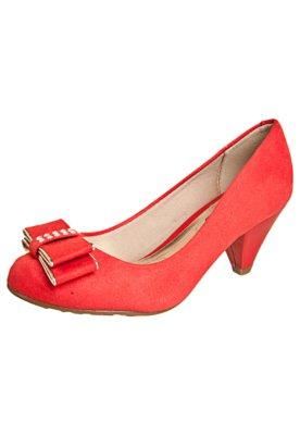 Sapato Scarpin Beira Rio Salto Médio Laço Vermelho