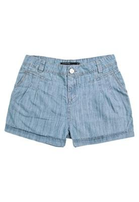 Bermuda Jeans Cantão Destroyed Azul