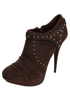 Ankle Boot Lilly's Closet Tachas Marrom