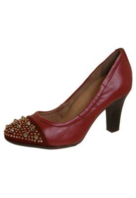 Sapato Scarpin Biqueira SPikes Vermelho - Bottero