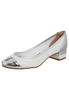 Sapato Scarpin Anna Flynn Trama Branco