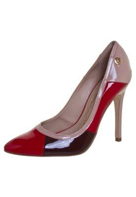 Sapato Scarpin Carmim Colorblock Rosa