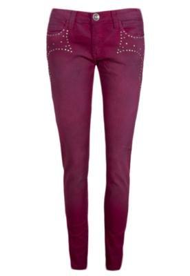 Calça Jeans Tachas Pink - Espaço Fashion