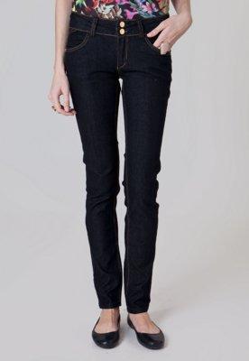 Calça Jeans Cantão Skinny Pesponto Azul