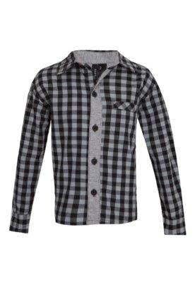 Camisa Hommer Modern Xadrez Cinza