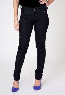 Calça Jeans Colcci Sexy Indigo Bordado Skinny Preta
