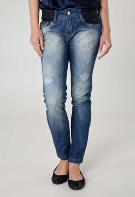 Calça Jeans Lança Perfume Skinny Second Azul