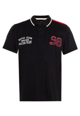 Camisa Polo FiveBlu Team Preta