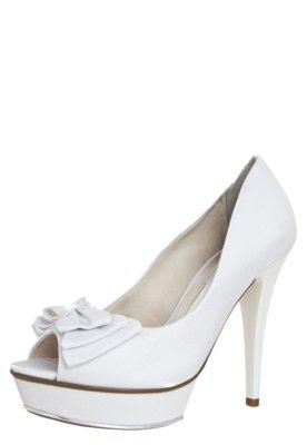 Sapato Scarpin Crysalis Meia-Pata Laço Noiva Branco