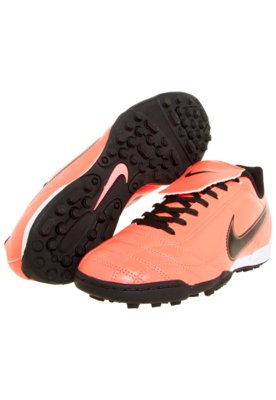Chuteira Society Nike Egoli TF EMB Laranja