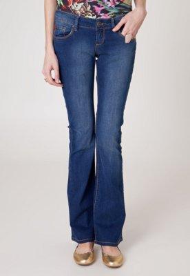 Calça Jeans Iódice Denim Bootcut Fray Azul