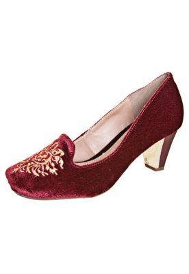 Sapato Scarpin FiveBlu Xingu Vinho
